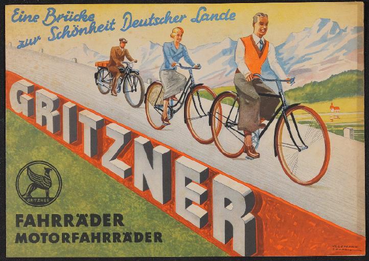 Gritzner Fahrräder Faltblatt 1930er Jahre
