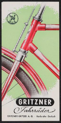 Gritzner Fahrräder Faltblatt 1950