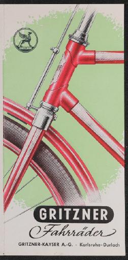 Gritzner Fahrräder Kayser Faltblatt 1950