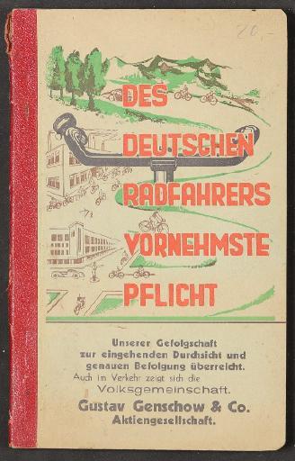 Des Deutschen Radfahrers vornehmste Pflicht