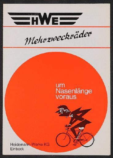 HWE Mehrzweckräder Prospekt 1970er Jahre