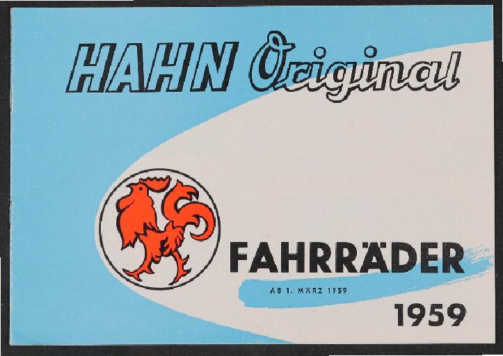 Hahn-Fahrräder Katalog 1959