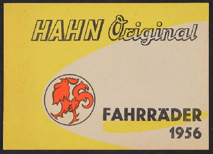 Hahn-Fahrräder Prospekt 1956