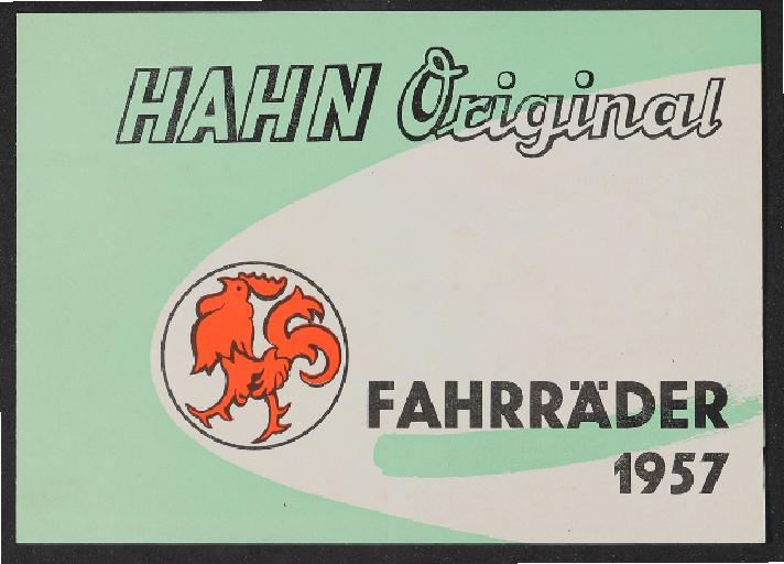 Hahn-Fahrräder Prospekt 1957