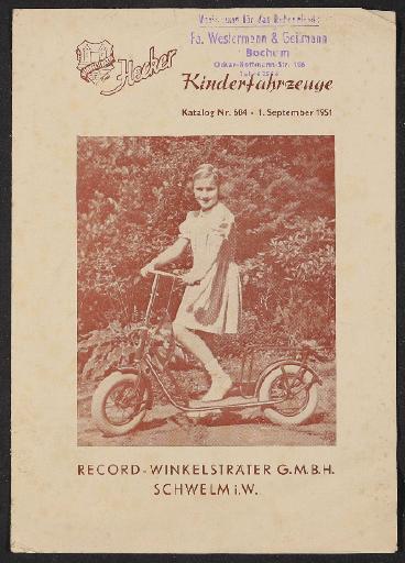 Hecker Kinderfahrzeuge Katalog 1951
