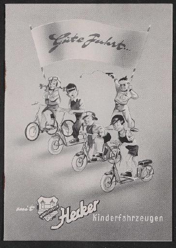 Hecker Kinderfahrzeuge Katalog und Preisliste 1953