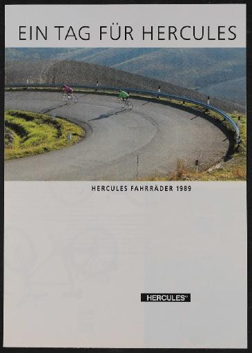 Hercules  Faltblatt u. Preisliste 1989