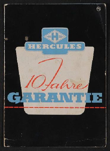 Hercules  Garantieschein 1958
