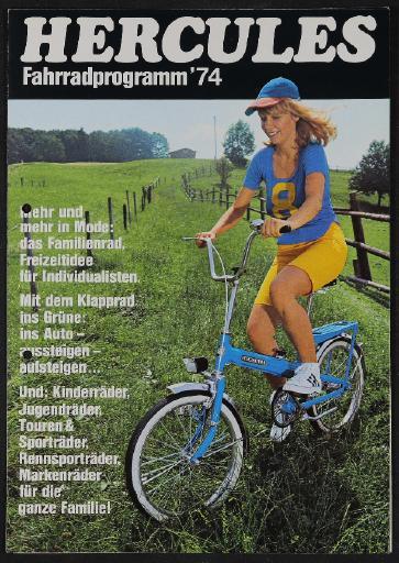 Hercules Fahrradprogramm Faltblatt 1974