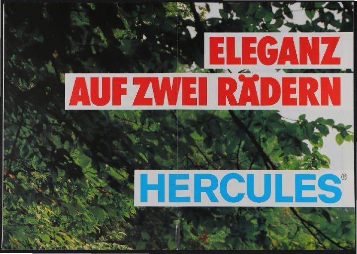 Hercules Faltblatt  1982
