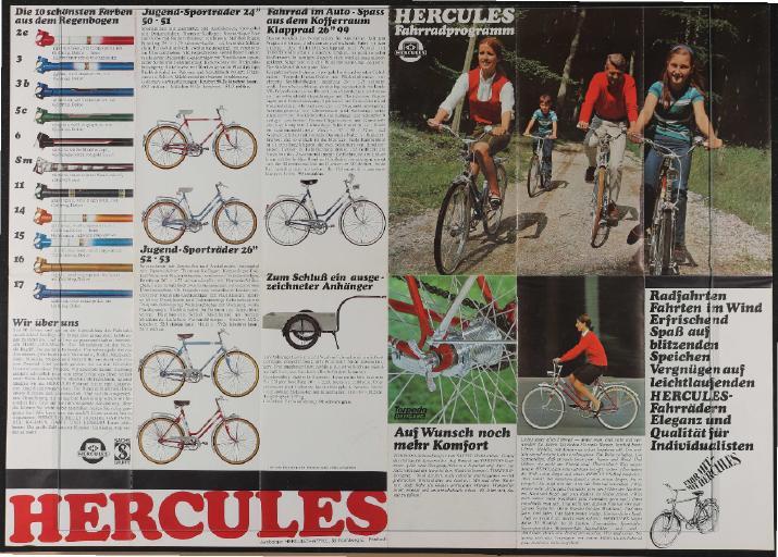 Hercules Faltblatt 1970er Jahre