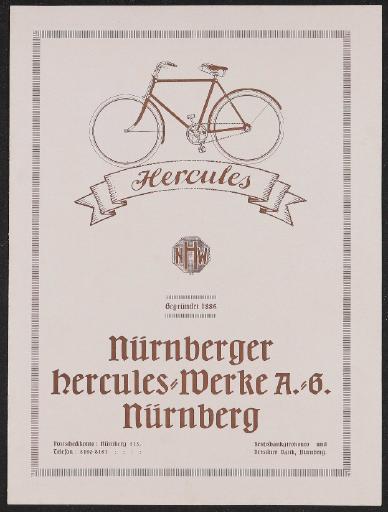 Hercules Katalog 1920er Jahre