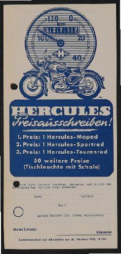 Hercules Preisausschreiben 1953