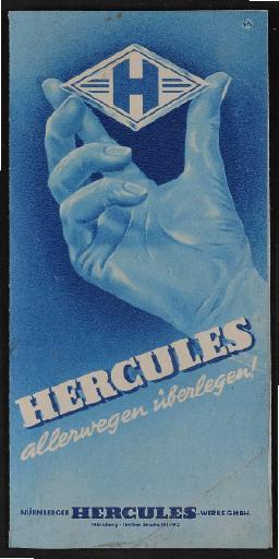 Hercules Prospekt 1950er Jahre