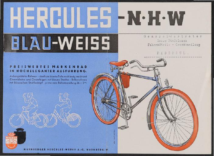 Hercules Werbeblatt 1930er Jahre (2)