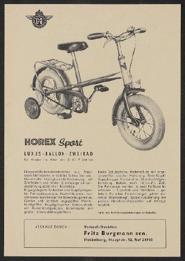 Horex Werbeblatt 1960er Jahre
