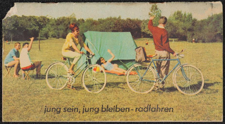 IFA Diamant Mifa jung sein, jung bleiben - radfahren Prospekt 1963