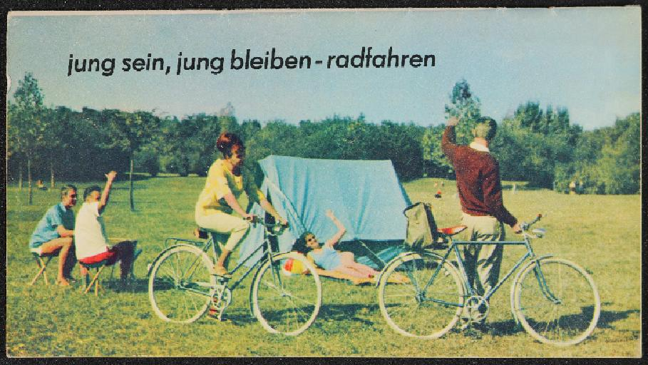 IFA Diamant Mifa jung sein, jung bleiben - radfahren Prospekt 1964
