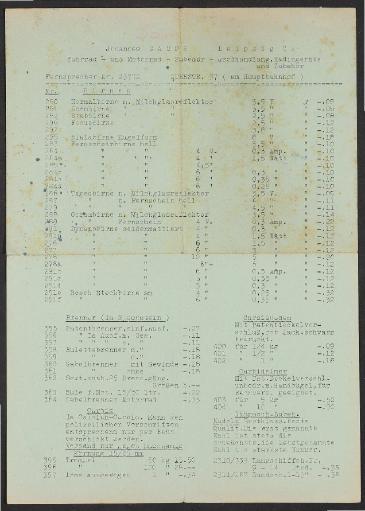 Johannes Gampe Fahrrad Zubehör, Prospektblätter 1930er Jahre