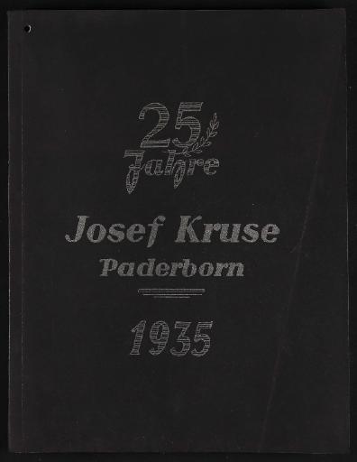 Joseph Kruse Paderborn Katalog 1935