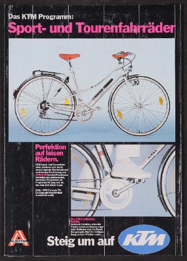 KTM Räder (AT) Faltblatt 1980er Jahre