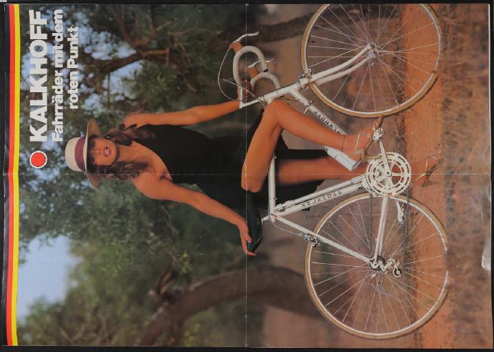 Kalkhoff Fahrräder Plakatprospekt 1980