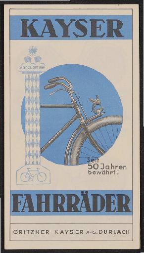 Kayser Fahrräder Faltblatt 1937