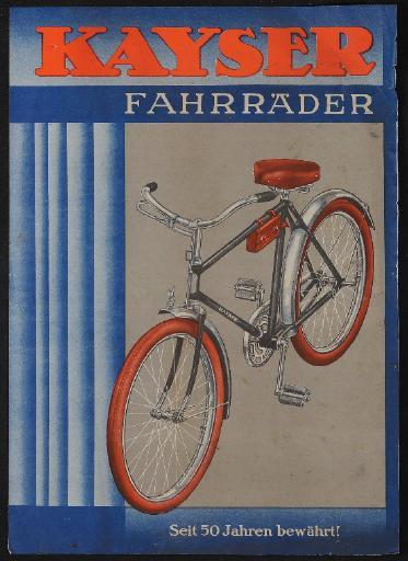 Kayser Fahrräder Werbeblatt 1930er Jahre