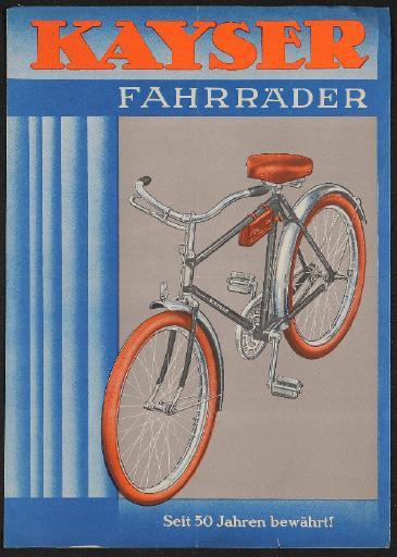 Kayser Fahrräder Werbeblatt 1937