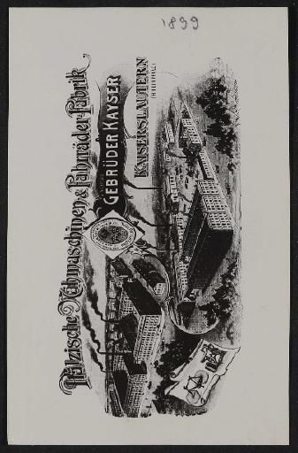Kayser Pfälzische Nähmaschinen- und Fahrräder Fabrik Katalog Kopie 1899