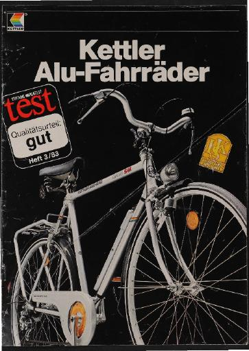 Kettler Alu-Fahrräder Prospekt 1983