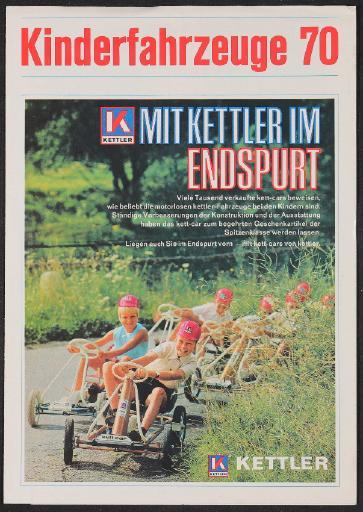 Kettler Kinderfahrzeuge 70 Faltblatt 1970