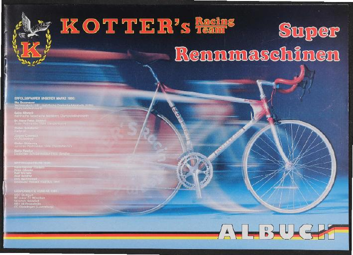 Kotters Racing Team Albuch Katalog  1987