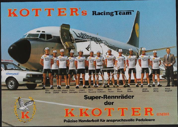Kotters Racing Team Rennräder Faltblatt 1981