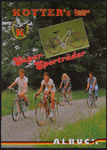 Kotters Racing Team Super-Sporträder Faltblatt 1980er Jahre