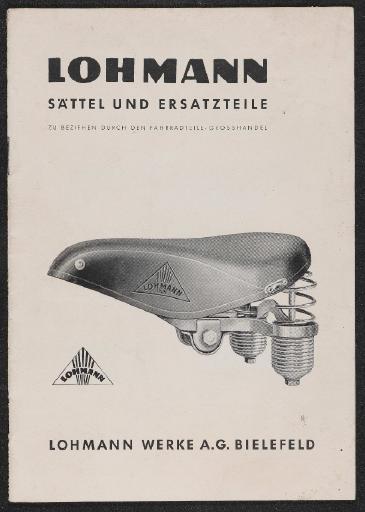 Lohmann Werke AG Sättel und Ersatzteile Katalog 50er Jahre