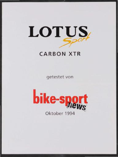 Lotus, Heidemann Fahrrad GmbH, Werbeblatt 1994