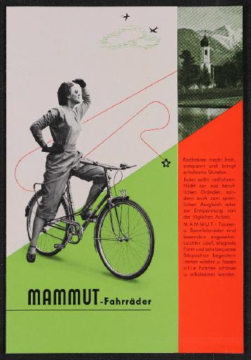 Mammut Fahrräder Faltblatt 50er Jahre