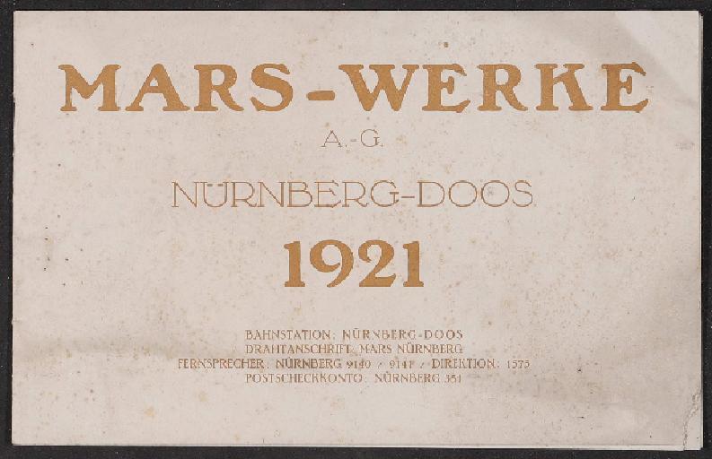 Mars Fahrräder Katalog 1921