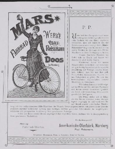 Mars Fahrrad-Werke Händlerinformation Kopie 1893