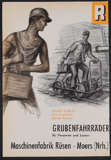 Maschinenfabrik Rüsen, Grubenfahrräder, Anzeige 1956