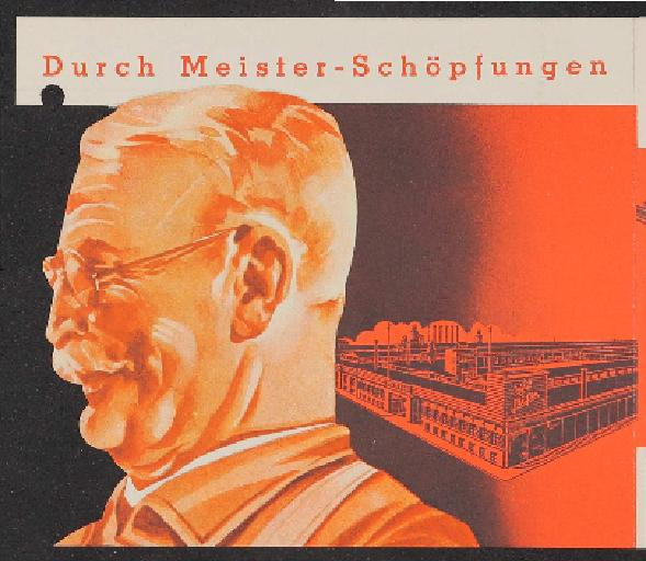 Meister Faltblatt 1930er Jahre