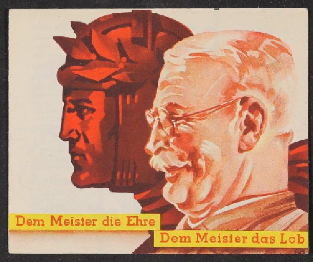 Meister Faltblatt 1935