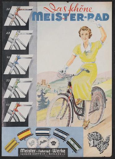 Meister Werbeblatt 1930er Jahre