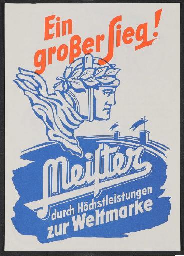 Meister Werbeblatt 1954