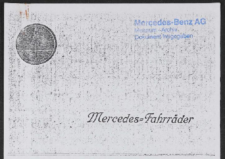 Mercedes Fahrräder Katalog Kopie 1924
