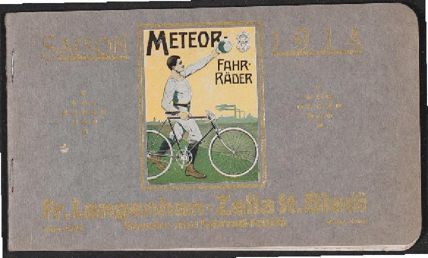 Meteor Fahrräder Katalog 1914