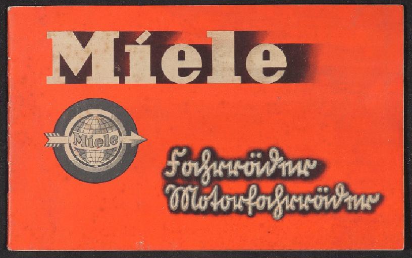 Miele Fahrräder Motorfahrräder Katalog 1936
