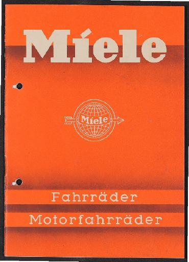 Miele Fahrräder Motorfahrräder Katalog 1937