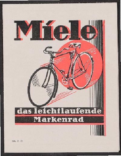 Miele Faltblatt 1930
